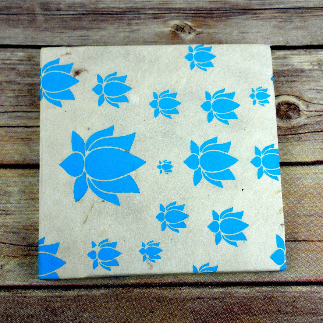 Global Crafts - Lotus Journal, Small Turquoise - Global Groove (S)