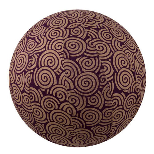Global Crafts - Yoga Ball Cover Size 55cm Design Plum Swirl - Global Groove (Y)