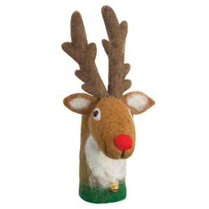 Global Crafts - Reindeer Bottle Topper - Wild Woolies (H)
