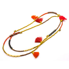 Load image into Gallery viewer, Global Crafts - Kerala 3-in-1 Necklace Desert Sun - Global Groove (J)