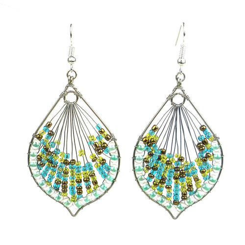 Global Crafts - Cleo Earring - Sea - Lucias Imports (J)