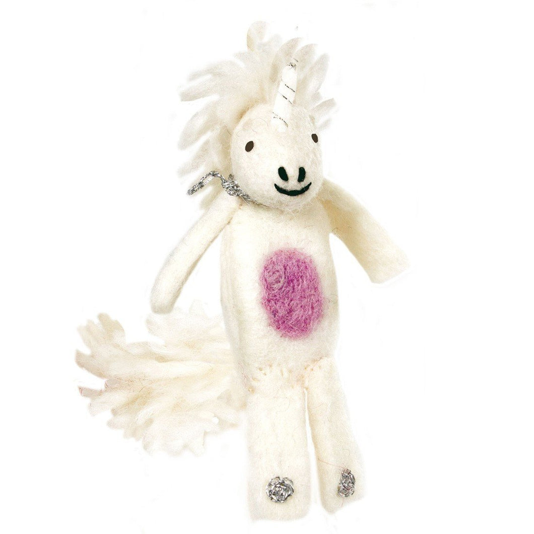 Global Crafts - Woolie Finger Puppet - Unicorn - Wild Woolies (T)
