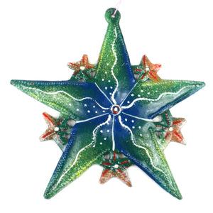 Global Crafts - Hand Painted Bright Steel Drum Ornament - Croix des Bouquets (H)