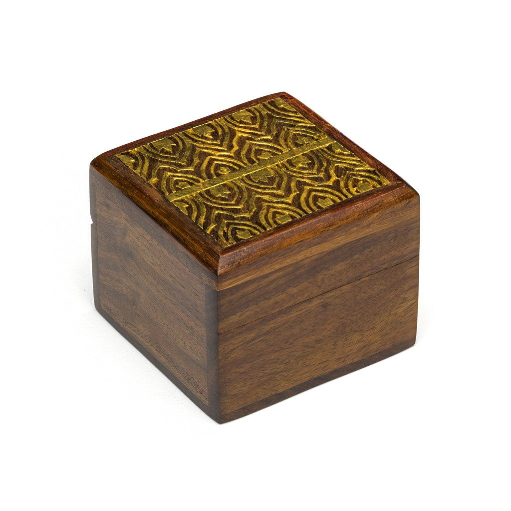 Global Crafts - Wood Kashvi Keepsake Box - Temple - Matr Boomie (B)