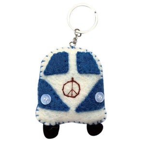 Global Crafts - Felt Van Key Chain - Global Groove (A)