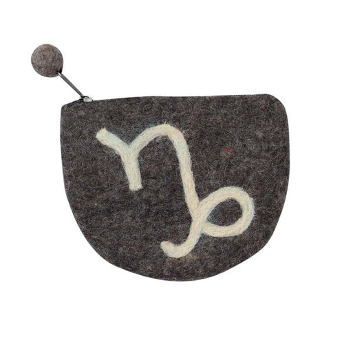 Global Crafts - Felt Capricorn Zodiac Coin Purse - Global Groove
