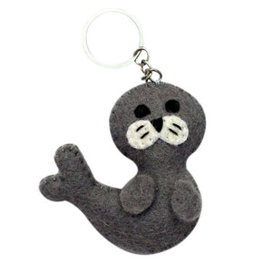 Global Crafts - Felt Seal Key Chain - Global Groove (A)