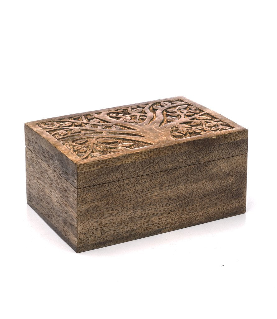 Global Crafts - Aranyani Mango Wood Jewelry Box - Matr Boomie (B)