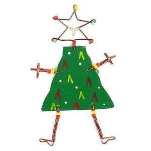 Global Crafts - Dancing Girl Christmas Tree Pin - Creative Alternatives