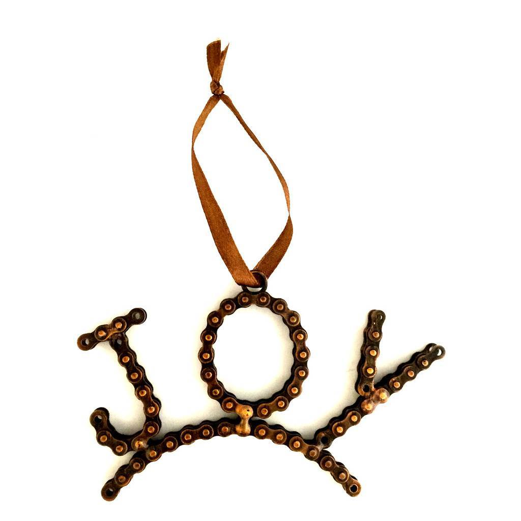Global Crafts - Joy Bike Chain Ornament - Mira (D)