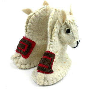 Global Crafts - Llama Felt Zooties - Baby Booties - Silk Road Bazaar