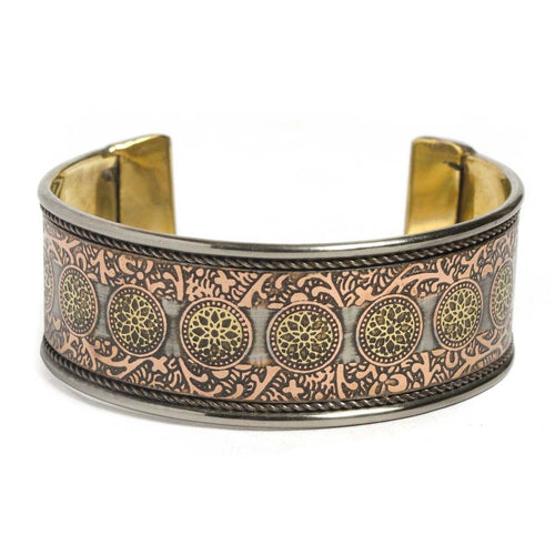 Global Crafts - Rani of Jhansi Cuff Bracelet - Matr Boomie (Jewelry)