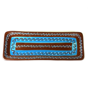 Global Crafts - Long Platter - Chocolate - encantada