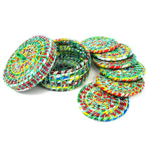Load image into Gallery viewer, Global Crafts - Recycled Wrapper Coasters Box Set Of 6 -