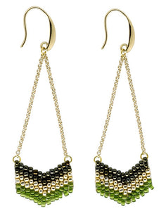 Global Crafts - Earrings: Eve Verdant - Marquet (J)