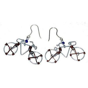 Wire Bicycle Earrings Handmade and Fair Trade