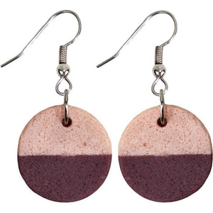 Global Crafts - Sahel Earrings - Wine - Global Mamas (Jewelry)