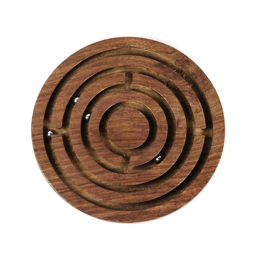 Global Crafts - Classic Round Labyrinth Game - Matr Boomie