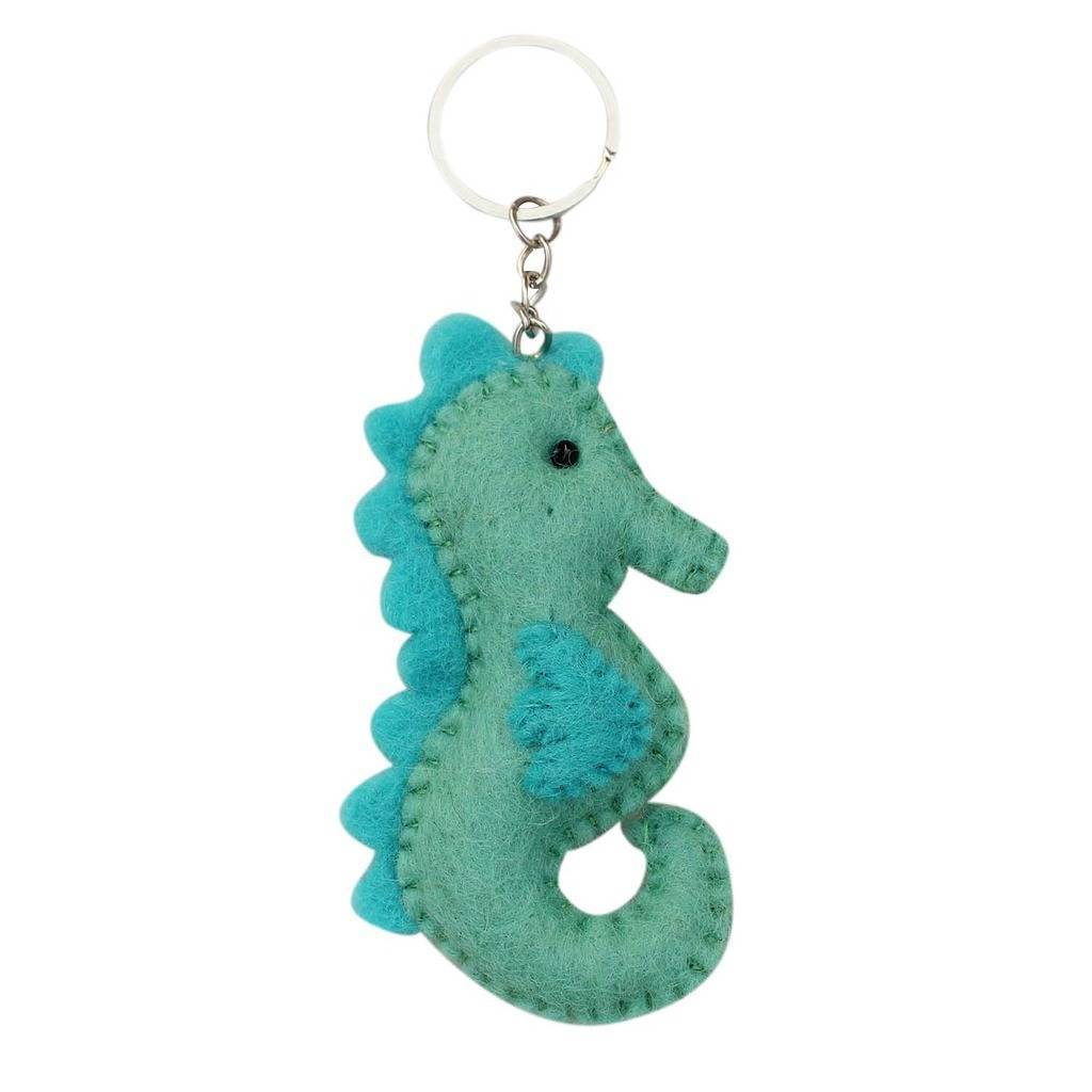 Global Crafts - Felt Sea Horse Key Chain - Global Groove (A)