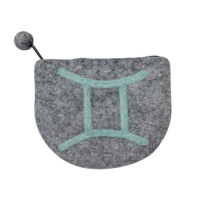 Global Crafts - Felt Gemini Zodiac Coin Purse - Global Groove