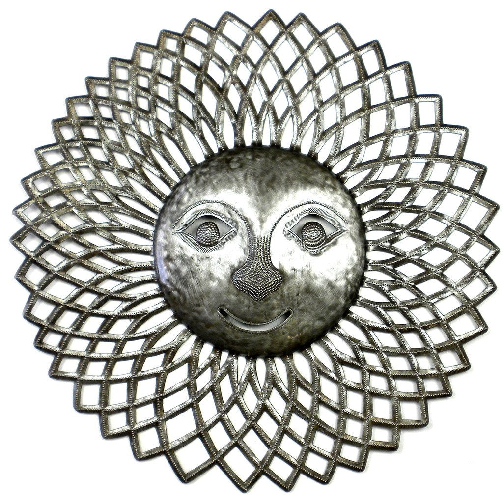 Global Crafts - Radiant Sun Metal Wall Art - Croix des Bouquets