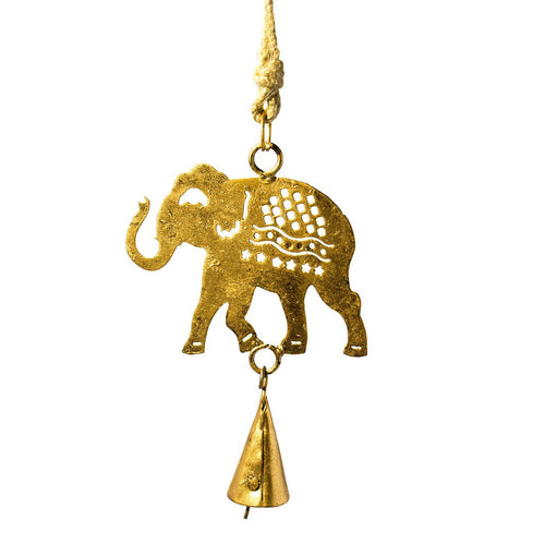 Global Crafts - Elephant Cutout Chime - Mira (Bell)