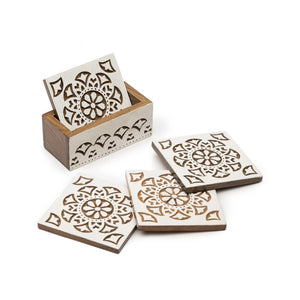 Global Crafts - Aashiyana Coasters - Set of 4 - Matr Boomie