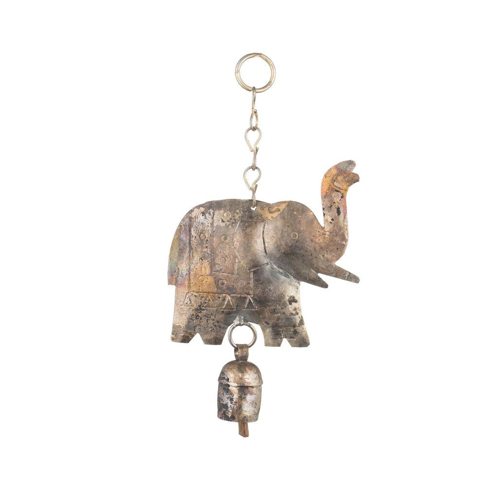 Global Crafts - Hanging Elephant with Bell - Matr Boomie (Bell)