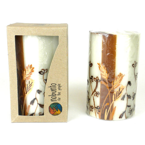Global Crafts - Hand Painted Candle - Single in Box - Kiwanja Design - Nobunto