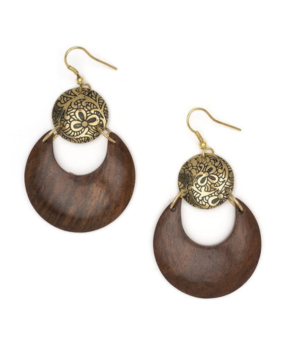 Global Crafts - Earth & Fire Lunar Earrings - Matr Boomie (Jewelry)