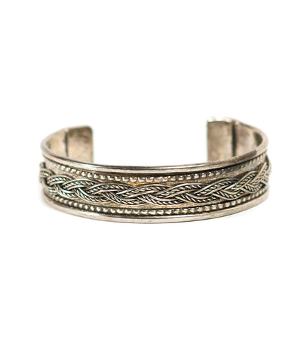 Global Crafts - Braided Silvertone Cuff - Matr Boomie (Jewelry)