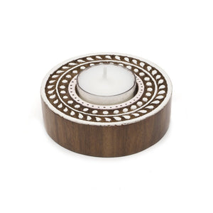 Global Crafts - Aashiyana Tea Light Holder - Vine - Matr Boomie (Candle)