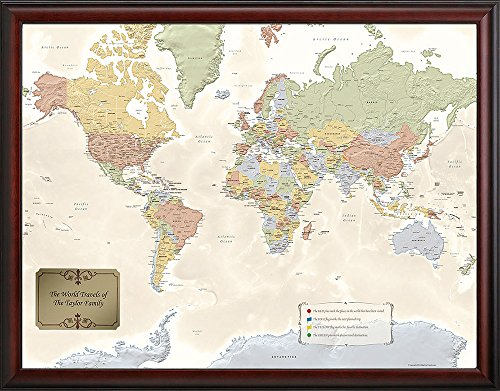 M&G - Personalized World Traveler Map