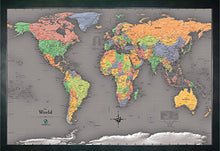 Load image into Gallery viewer, Homemagnetics 33 x 22 Modern World Magnetic Map