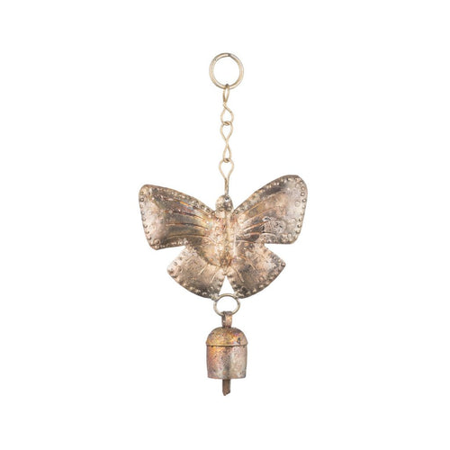 Global Crafts - Hanging Butterfly with Bell - Matr Boomie (Bell)
