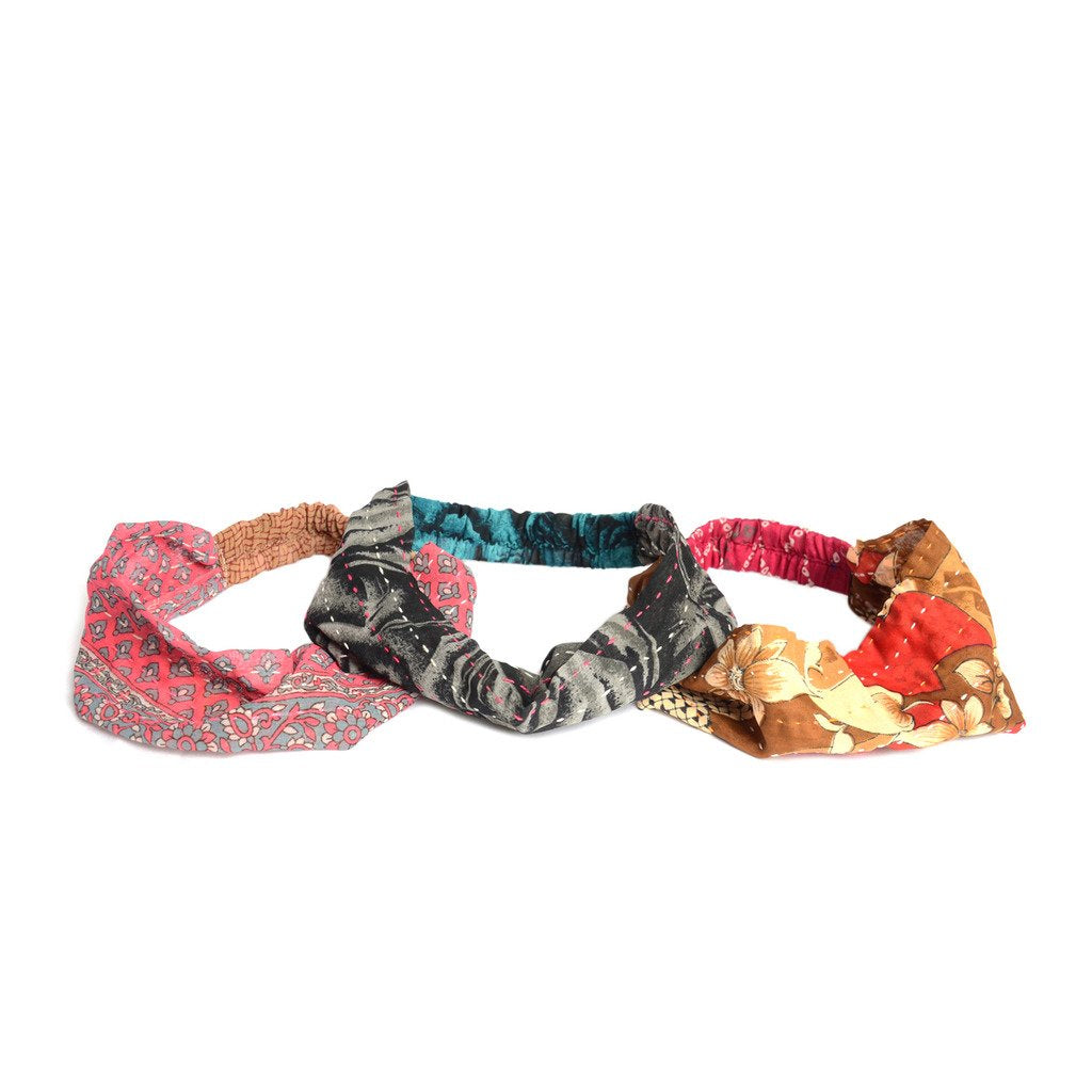 Global Crafts - Kantha Sari Headband - Assorted - Matr Boomie (A)