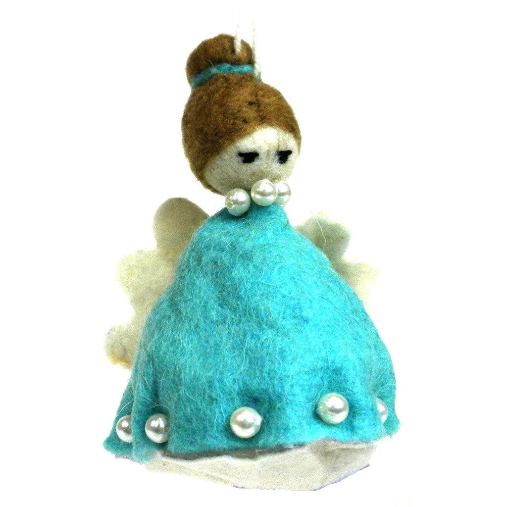 Global Crafts - Felt Magic Fairy Ornament - Blue - Silk Road Bazaar (O)