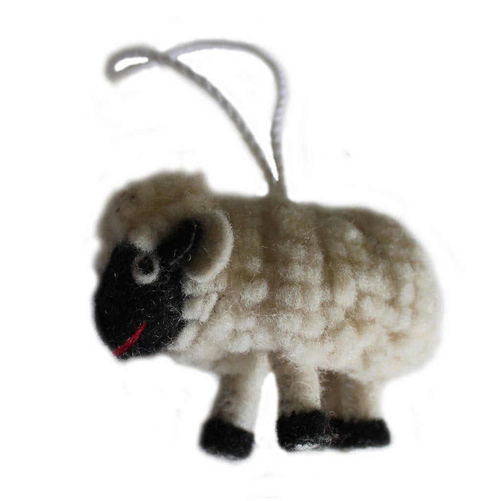 Global Crafts - Felt Sheep Ornament - Silk Road Bazaar (O)
