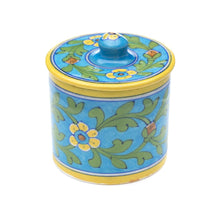 Load image into Gallery viewer, Global Crafts - Blue Pottery Canister - Turquoise - Matr Boomie (Pottery)