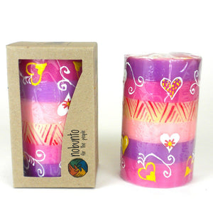 Global Crafts - Hand Painted Candle - Single in Box - Ashiki Design - Nobunto