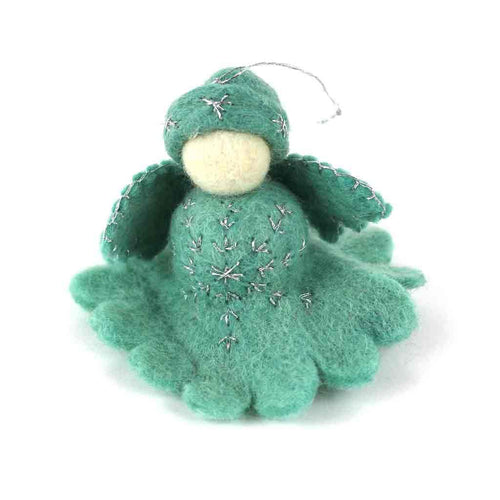 Global Crafts - Blue Angel Felt Ornament - Global Groove (H)
