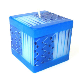 Global Crafts - Hand Painted Candle - Cube - Feruzi Design - Nobunto