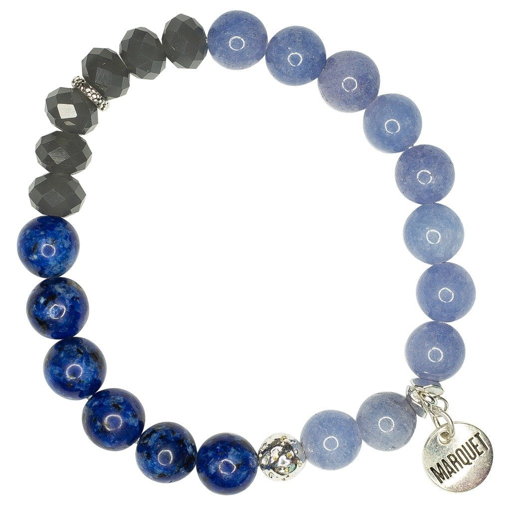 Global Crafts - Roll-on Bracelet: Molly Worn Denim - Marquet (J)