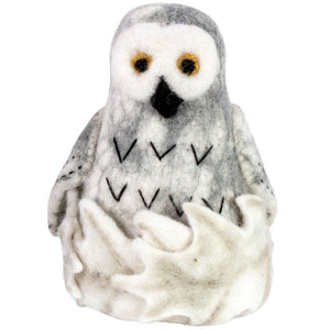Global Crafts - Felt Snowy Owl Tree Topper - Wild Woolies (H)