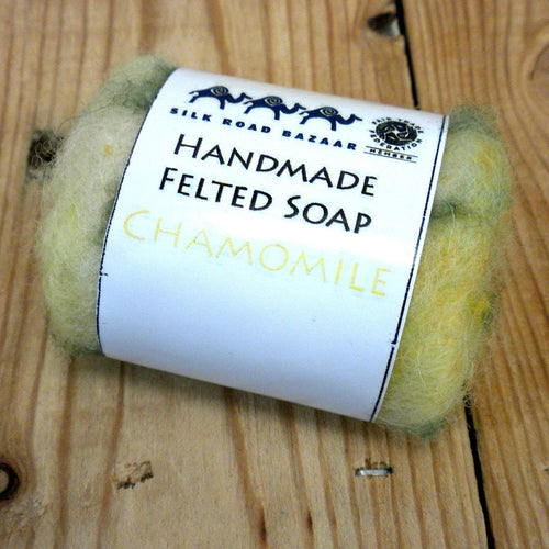 Global Crafts - Handmade Felted Soap Chamomile - Silk Road Bazaar (S)