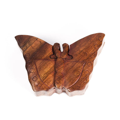 Global Crafts - Butterfly Puzzle Box - Matr Boomie