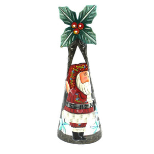 Global Crafts - Hand Painted 11 inch Santa Metal Art - Croix des Bouquets (H)