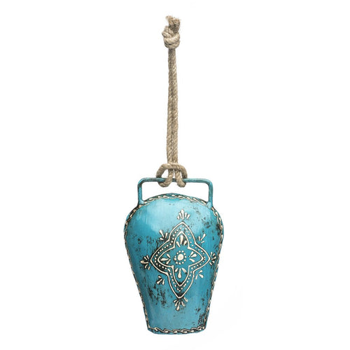 Global Crafts - Henna Treasure Bell - Large Teal - Matr Boomie (Bell)