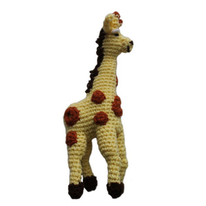 Global Crafts - Knit Rattle Giraffe - Silk Road Bazaar