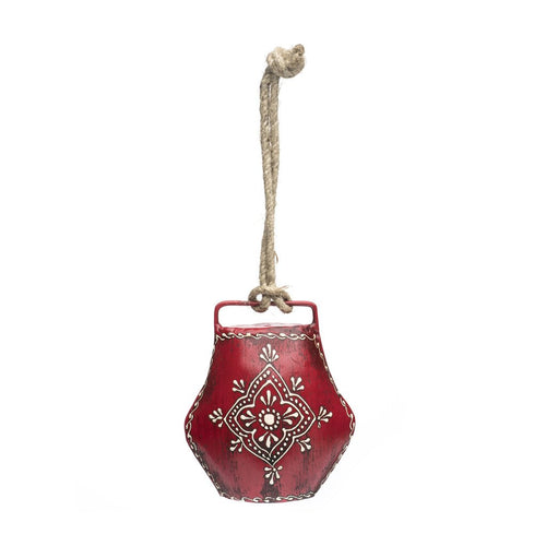 Global Crafts - Henna Treasure Bell - Large Red - Matr Boomie (Bell)